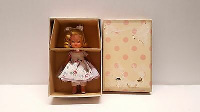 Vintage Bisque Nancy Ann doll storybook Roses are Red Violets #113 w/ box