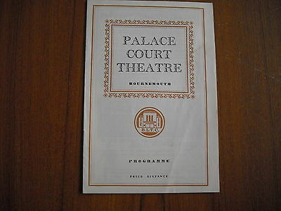 Palace Court Theatre, Bournemouth - Write Me A Murder - 1962