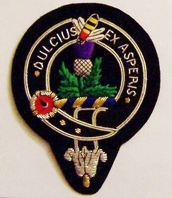 Royal Scottish Scotland Clan Farquharson Crest Ferguson Family Name Arms Patch F