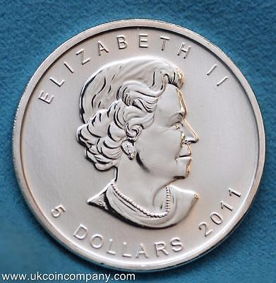 2011 Canada Maple Leaf 1oz Fine Silver Bu $5 Five Dollar Coin