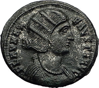 FAUSTA wife of Constantine I the Great 325AD Authentic Ancient Roman Coin i59180
