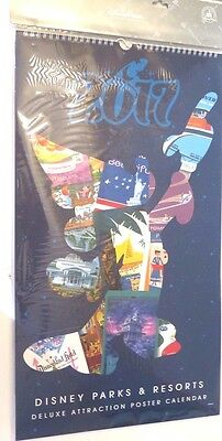 Brand New Disney Parks 2017 Attraction Poster Large Calendar