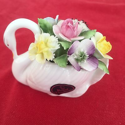Royal Doulton Fine  Bone China Swan With Flowers