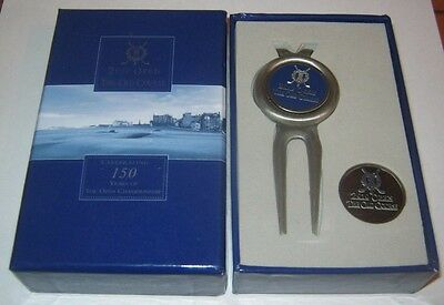 2010 OPEN St Andrews Stem Golf Ball Marker Gift Set The Old Course Boxed
