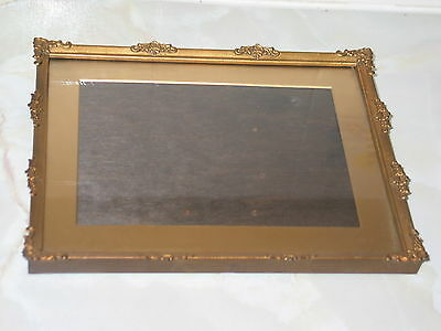 VINTAGE Metal Gold Tone Ornate 1930's  ARCO PHOTO/PICTURE FRAME