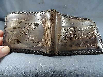 Wwii Soldiers Ided Army Air Corps Wings Leonard C. Phillips Houston Texas Wallet