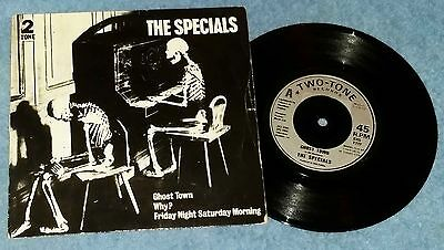 """The Specials – Ghost Town 7"""" Record VG/EX+ UK 1981 Ska"""