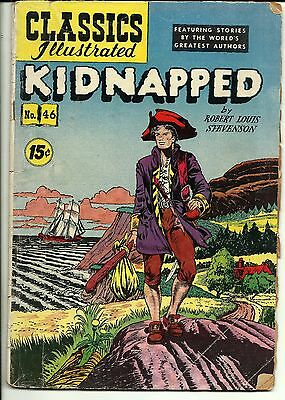 Classics Illustrated #46 Kidnapped Febuary1948