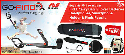 Minelab Go-Find 60 Metal Detector Holiday Package