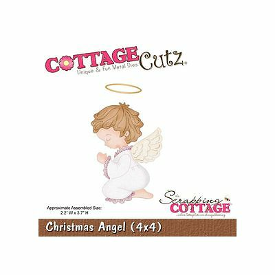 "Cottage Cutz Metal Die Cut Christmas Angel Approximately 4""x4"""