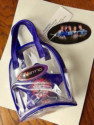 NSYNC Small Clear Blue Vinyl Purse w/tags Timberlake Boy Band 90's World Ship