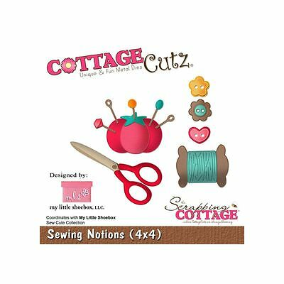 "Cottage Cutz Metal Die Cut Sewing Notions Approximately 4""x4"""