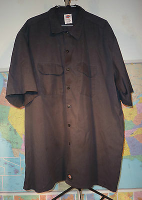 Dickies 1574 Short Sleeve Work Uniform Shirt  3XL Black