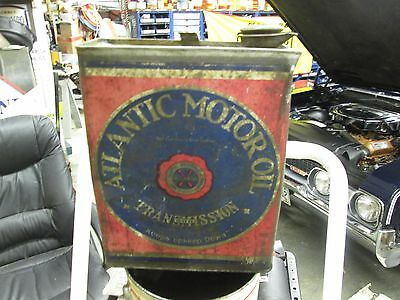 Early Original Atlantic Transmission  Oil 1 Gallon Can Metal