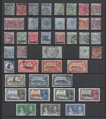 Gibraltar Collection Qv-Qe2 On 11 Pages
