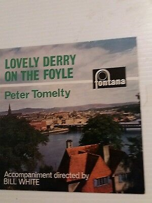 """Lovely Derry on the Foyle Peter Tomelty 7"""" single 1964 Rare"""