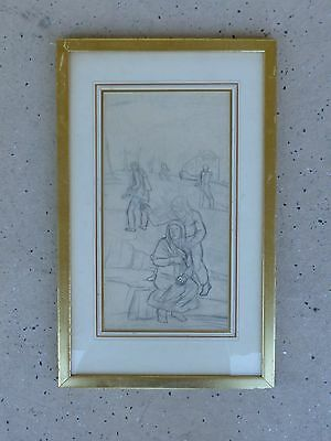 Wpa Ashcan School Drawing By Orville Carroll Listed Kentucky Artist