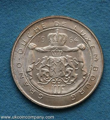 1964 Luxembourg 100 Francs Silver Coin