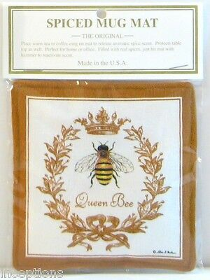 Alice's Cottage Cotton Scented Spiced Mug Mat Coaster Queen Bee - NEW