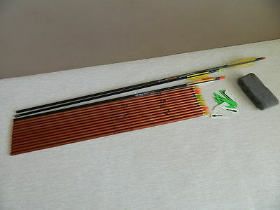 12 Easton Superlite XX75 Arrow shafts for archery or hunting + 3 extra arrows