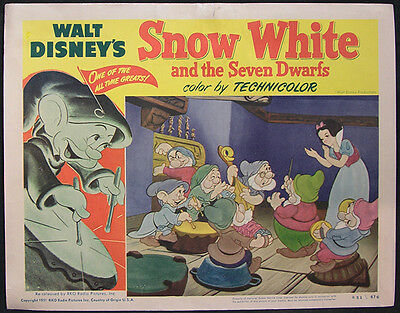 Snow White And The Seven Dwarfs 1951 Lobby Card #7 Classic Walt Disney Animation