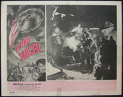 The Flying Saucer Original 1950 Lobby Card #4 Mikel Conrad, Pat Garrison, Sci/Fi
