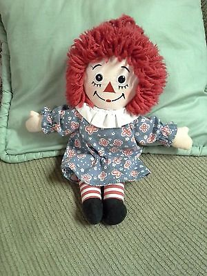 Raggedy Ann Doll From Applause  With Blue And Red Flowered Dress, 2011
