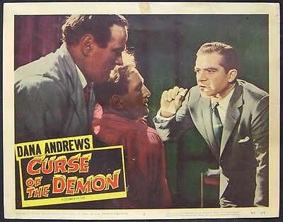 Curse Of The Demon Orig 1957 Lobby Card 3 Dana Andrews, Peggy Cummins, Horror
