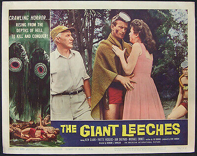 The Giant Leeches Original 1959 Lobby Card #7 Ken Clark, Yvette Vickers, Horror