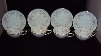 Noritake Arlene Set Of 4 cups and saucers