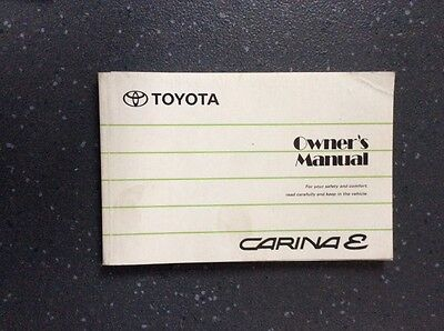 Toyota Carina Owners Manuel