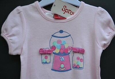 Sprout baby girl Sz 1 summer pyjamas pjs sleepwear BNWT pink new lollies