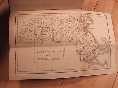 1849 Massachusetts Business Directory Over 300 Pages Massachusetts Map