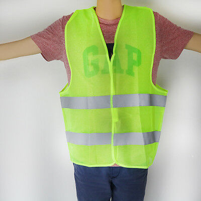 High Visability Safety Vest with Reflective Banding Safety Zip Vest Traffic