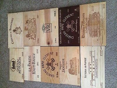 Wine Crate Panels *** 10 Assorted Branded Wine Crate Panels - Lot G