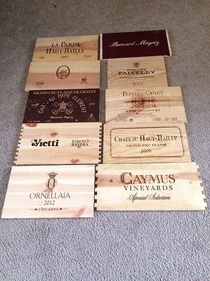 Wine Crate Panels *** 10 Assorted Branded Wine Crate Panels - Lot H