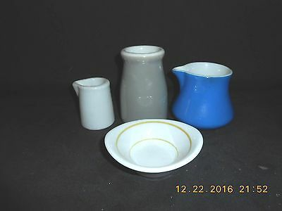 4 Pieces Shenango China 3 Creamers & 1 Butter Pat/Dipping Bowl Very Good Cond