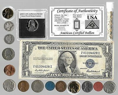 Silver Dollar Barber Mercury Liberty Indian US Complete Coin Collection Lot Gold