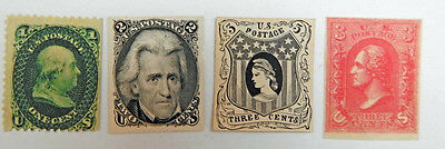 US 4 Early Trial Color Stamp Proofs Set