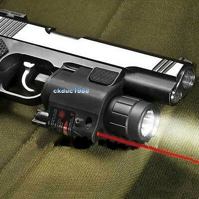 Tactical Flashlight + Red Laser Sight + cord remote switch  For Pistol Glock #1