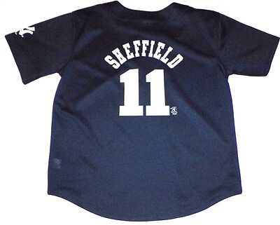 Boys L 14/16 New York Yankees Sheffield Jersey Youth  Majestic Genuine MLB