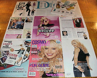 HILARY DUFF CLIPPINGS LIZZIE McGUIRE STAR #092316