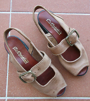 Original Mr Christian Leather Sandals With Platform Soles From 1990S Size 8