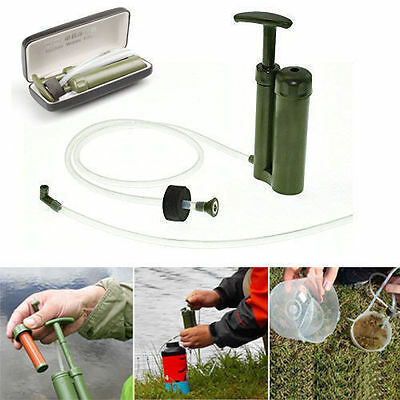 Portable Soldier Army Emergency Water Filter Purifier for Camping Trvel Fishing