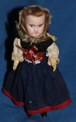 """Vintage French Doll 8"""" Bisque head"""