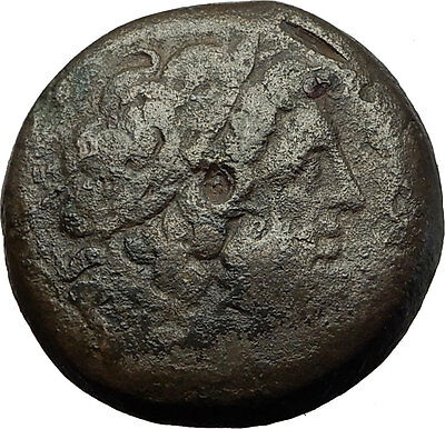 Ptolemy II Philadelphos 266BC Zeus Alexandria Egypt Ancient Greek Coin i59258