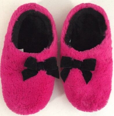 INC International Concepts NEW Pink Plush Bow Clog Slippers Size S