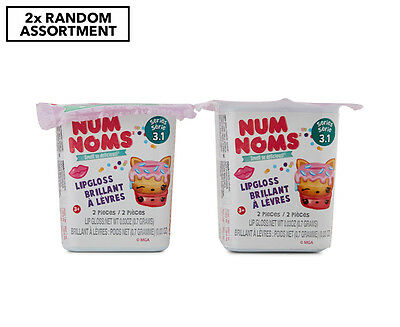 2 x Num Noms Mystery Pack Series 3.1 Lip Gloss - Assorted