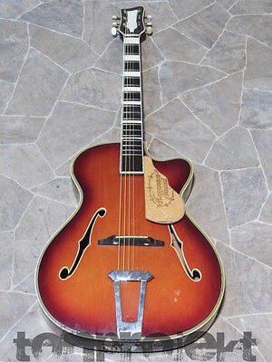 vintage HERRNSDORF archtop cutaway Jazz Guitare de percussion Allemagne 1960`