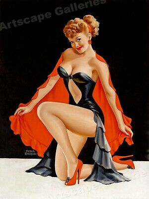 """Peter Driben 1948 Pin-Up Girl """"Sweet and Sultry"""" Vintage Style Poster - 24x32"""